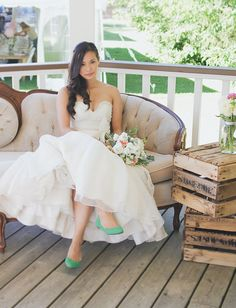 Wearing flats on your wedding day with style!! I still hope to wear heels even for a little bit...
