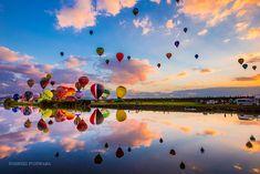 2014 佐賀インターナショナルバルーンフェスタ アジア最大級を誇る熱気球の国際フェスティバル(競技大会)  大感動の景色でした^^