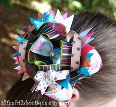 Hair Bow Instructions  Stacked Bows by allthefrillsboutique,