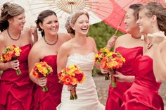 Google Image Result for http://www.mywedding.com/blog/wp-content/gallery/andrea-jack/portrait-bridesmaids-red-dresses.jpg   LOVE the color of these dresses