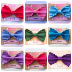 Colorful Plain Bow Tie