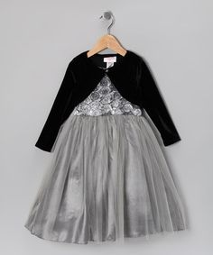 Take a look at this Silver Rosette Garden Dress & Bolero - Toddler & Girls by Cinderella Couture on #zulily today!