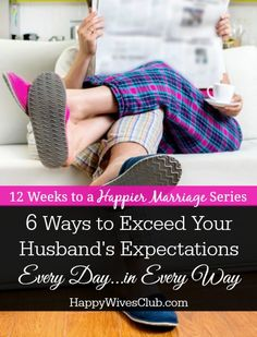 6 Easy Ways to Exceed Your Spouse's Expectations Godly Wife, Godly Marriage, Marriage And Family, Marriage Relationship, Happy Marriage, Marriage Advice, Relationships, Marriage Proposals, Saving A Marriage