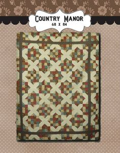 Country Manor PDF quilt pattern by myreddoordesigns on Etsy, $6.50