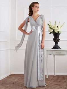 Sheath Column V-neck Short Sleeves Lace Long Chiffon Dresses Designer Evening  Dresses 3c20f3da3271