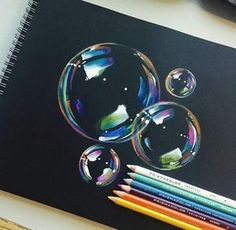 25 Beautiful Color Pencil Drawings and Drawing Tips for beginners - Realistic 3d Bubbles Color Pencil Drawings by Manny Lucero http://webneel.com/25-beautiful-color-pencil-drawings-valentina-zou-and-drawing-tips-beginners | Design Inspiration http://webneel.com | Follow us www.pinterest.com/webneel