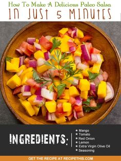 30 Minute Meals   how to make a delicious paleo salsa in just 5 minutes from…