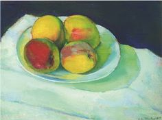 Charles Sheeler (American, Peaches in a White Bowl, Oil on canvas, 10 x 13 in. Human Soul, White Bowl, Cubism, Art And Architecture, American Art, In This World, Still Life, Oil On Canvas, Peaches