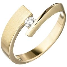 Dreambase Damen-Ring teilmattiert 14 Karat (585) Gelbgold... https://www.amazon.de/dp/B01HSS2P72/?m=A37R2BYHN7XPNV