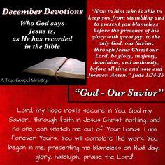 Jesus: God our Savior  #atruegospelministry