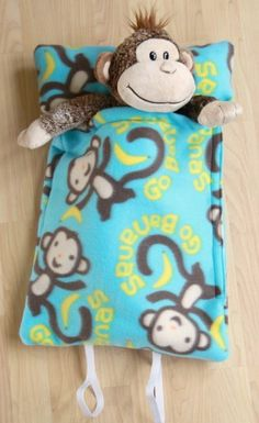 How to make a sleeping bag for a stuffed animal or a doll!