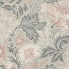 Wallpaper Ava Grey/Black // Kubel grey is a new colourway of Sandbergs classic pattern. A large patterned floral wallpaper that works well in bed Luxury Wallpaper, Grey Wallpaper, Wallpaper Direct, Wallpaper Size, Print Wallpaper, Flower Wallpaper, Designer Wallpaper, Pattern Wallpaper, Sandberg Wallpaper