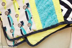 Faux Quilt Binding with Cuddle - project tutorial by Cheryl @sewcando - up on My Cuddle Corner, our blog http://shannonfabrics.com/blog/2015/08/05/faux-quilt-binding-with-cuddle/ SewCanDo