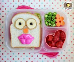 Cute bento lunch ideas. This site is great because she shows where she gets all her supplies.