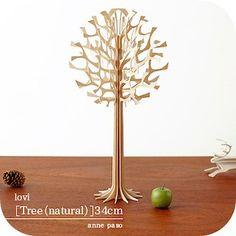lovi-Rovi ( Natural ) [Tree] wooden tree 34 cm objet natural Scandinavian gadgets 02P13Dec13_m