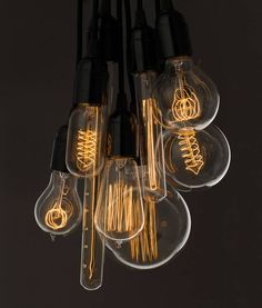 We have light bulbs to suit any taste. Choose from low energy Plumen designer bulbs, Vintage Edison style filament bulbs and LED. Vintage Light Bulbs, Vintage Lighting, Rustic Light Bulbs, Vintage Lamps, Retro Lampe, Deco Luminaire, Cage Light, Edison Lighting, Edison Bulbs