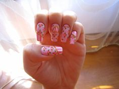 Super-Girly nail art!