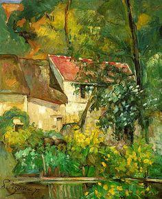 Paul Cézanne.Casa de Pere Lacroix en Auvers. 1873. (Impresionismo) Cézanne comienza a dar destellos de cubismo, se ve la geometría en la casa.