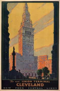 1930 Cleveland poster by Leslie Darrell Ragan
