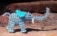 elephant made of beads :)