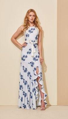 9ba887c997fd5 VESTIDO LONGO PALMEIRAS - VE29370-31   Skazi, Moda feminina, roupa casual,