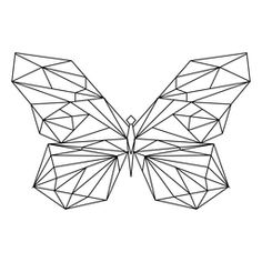 geometric line drawing, butterfly Geometric Drawing, Geometric Lines, Eagle Drawing, Black And White Stickers, Polygon Art, Aesthetic Drawing, Butterfly Design, Easy Drawings, Line Art
