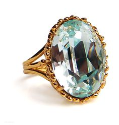 Aquamarine ring.