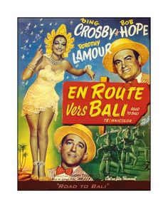 """Vintage French movie poster """"Road to Bali"""""""