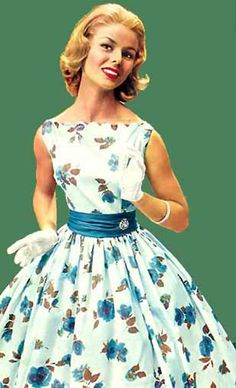 I think a dress like this would be great for bridesmaids or even the bride. I love 1950's style dresses but I don't think they suit me sadly.