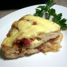 French Tartiflette Allrecipes.com  Reblochon cheese can't be purchased in the US but raclette cheese makes a good substitute in this classic dish from the French Alps.