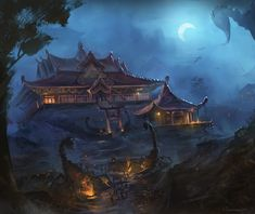 The Shadowed Estate by najtkriss.deviantart.com on @DeviantArt