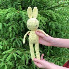 Crochet Bunny, Crochet Dolls, Easy Crochet Patterns, Crochet Stitches, Double Crochet, Single Crochet, Toddler Toys, Baby Toys, Funny Toys