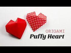 Origami Puffy Heart Instructions - 3D Paper Heart ♥︎ DIY ♥︎ Paper Kawaii - YouTube