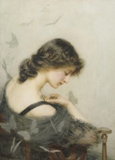 23silence:  St. George Hare (1857-1933) - Black Butterflies