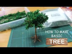 [Diorama Tutorial] Check out our video on how to make a basic tree, with just a few simple step and you will get yourself a cool looking basic Tree. Fake Trees, Trees And Shrubs, How To Make Trees, Bonsai Tree Tattoos, Crepe Paper Crafts, Diy Paper, Landscape Model, Landscape Architecture, Model Tree