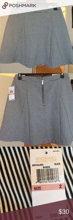 Michael Kors Skirt Size 2 stripped Michael Kors Skirts Midi