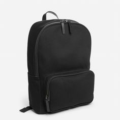 The Modern Zip Backpack - Mini: The smallest backpack in this collection fits just what you need.  Water-resistant cotton twill exterior Leather detailing Cotton/polyester lining YKK zippers Spot clean only