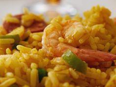 risotto piselli, salmone fresco e scampi