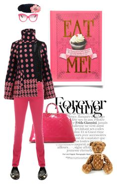 You, me and teddy by pensivepeacock on Polyvore featuring polyvore fashion style Jigsaw Patrizia Pepe TALLY WEiJL Italia Independent Tarina Tarantino Moschino Gucci Louis Vuitton clothing