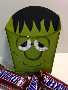 Frankenstein Fry Box, Candy Holder, Weekend Project, Stampin' Up!, Rubber Stamping, Handmade Gifts, Halloween Gifts