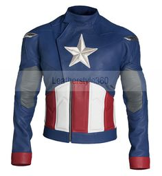 Captain America  Steve Rogers The First Avenger  Leather Jacket on Etsy, $168.00