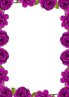 Purple Borders and Frames | Free digital purple rose frame and border in vintage design ...