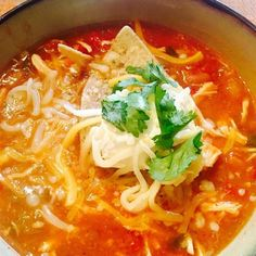 """Slow Cooker Chicken Taco Soup 