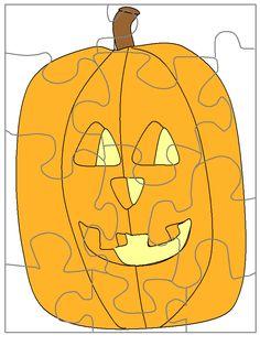 templates jigsaw jack Halloween Poems, Halloween Crafts, Tweety, Puzzles, Holiday, Christmas, Pumpkin, Party Ideas, Printables