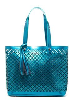 Buco Handbags Buco Large Patent Leather Circles Tote
