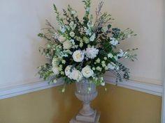 beautiful pedestal flower arrangement