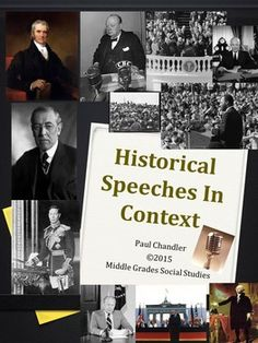 We have all heard the quotes, the snippets, the excerpts---but what about the whole speeches? Great for Language Arts or Social Studies, this open ended lesson will provide great discussion or research questions for your young charges and will encourage deeper thinking about the world around them.