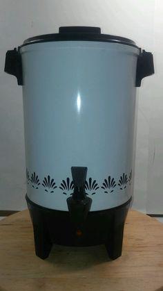 West Bend Percolator Coffee Maker 30 Cup Party Perk Vintage Retro #WestBend