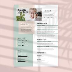 Cv Design Template Free, Photo Templates Free, Creative Cv Template, Modern Resume Template, Creative Cv Design, Cv Templates Free Download, Best Cv Template, Business Templates, Resume Template Free