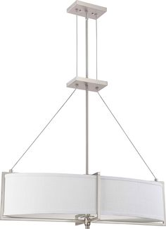 Island/Pool Table-Drum Shades 4 60watt light bulbs brushed nickle finish  539.00